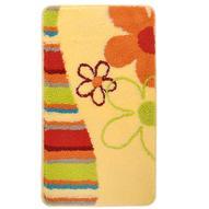 "Коврик для ванной комнаты Milardo ""Daisy Blossom"", цвет: желтый, 40 см х 70 см. MMI060A"