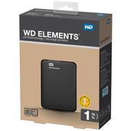 WD Elements Portable 1TB, USB 3.0 внешний жесткий диск (WDBUZG0010BBK-WESN)