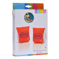 """Нарукавники для плавания Intex """"Вэт Сет"""", цвет: оранжевый, белый, 23 см х 15 см"""
