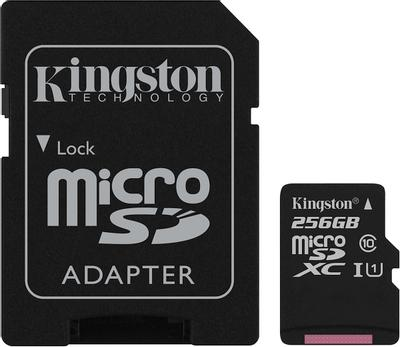Kingston microSDXC Canvas Select 80R CL10 UHS-ISP 256GB карта памяти с адаптером